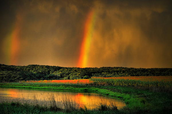 Rainbow Photograph - Double Reflection Rainbow by Emily Stauring