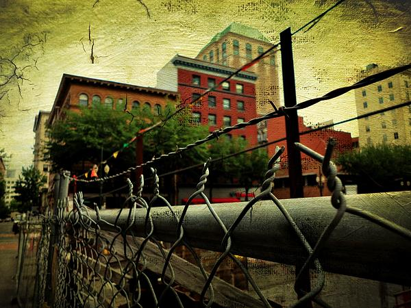Buildings Photograph - Down The Fence by Cathie Tyler