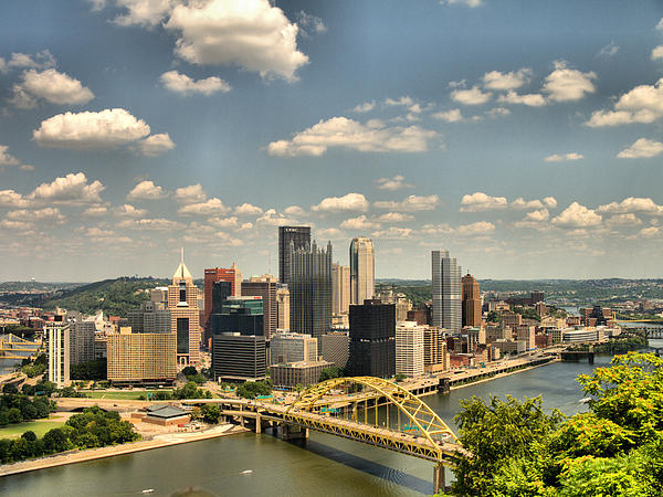 Hdr Photograph - Downtown Pittsburgh Hdr by Arthur Herold Jr