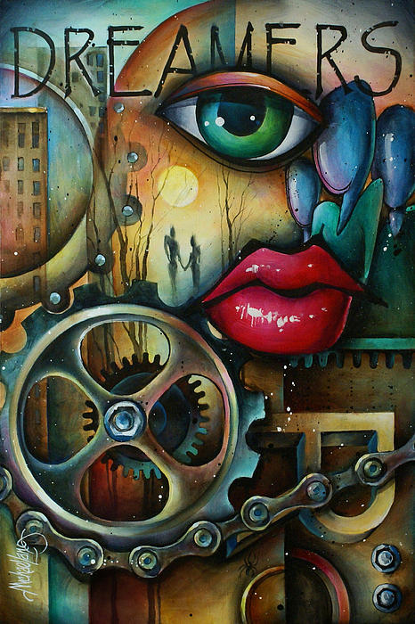 Urban Expressions Painting - Dreamers 3 by Michael Lang