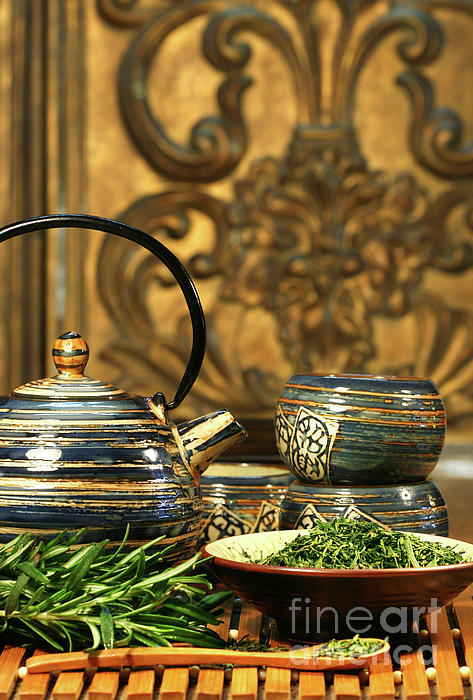 Asia Photograph - Dries Herb Leaves  by Sandra Cunningham