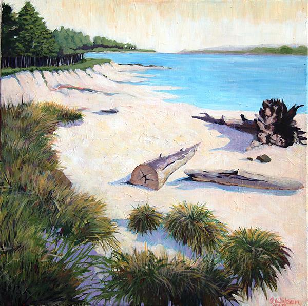 Sun Painting - Driftwood Beach Oregon by Bella  Wilson