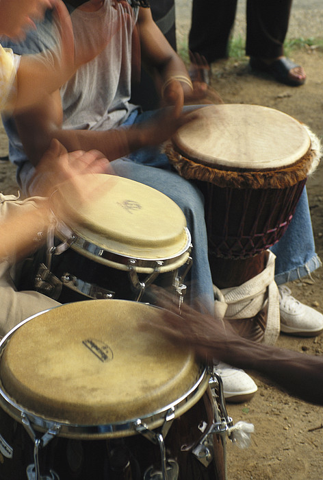 North America Photograph - Drummers Of Varied Backgrounds Join by Stephen St. John