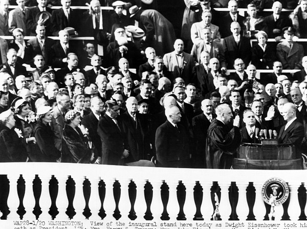 History Photograph - Dwight Eisenhower First Inauguration by Everett