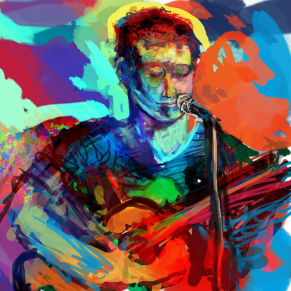 Dylan Digital Art - Dylans Performance by James Thomas