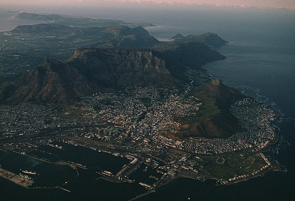 Africa Photograph - Early Morning Aerial View Of Cape Town by James L. Stanfield