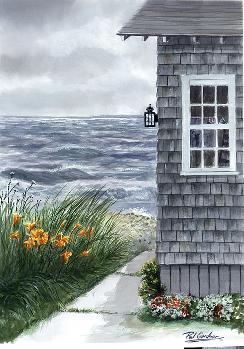 East Chop Storm Painting by Paul Gardner