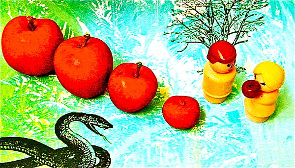 Adam And Eve Photograph - Eating Apples by Ricky Sencion