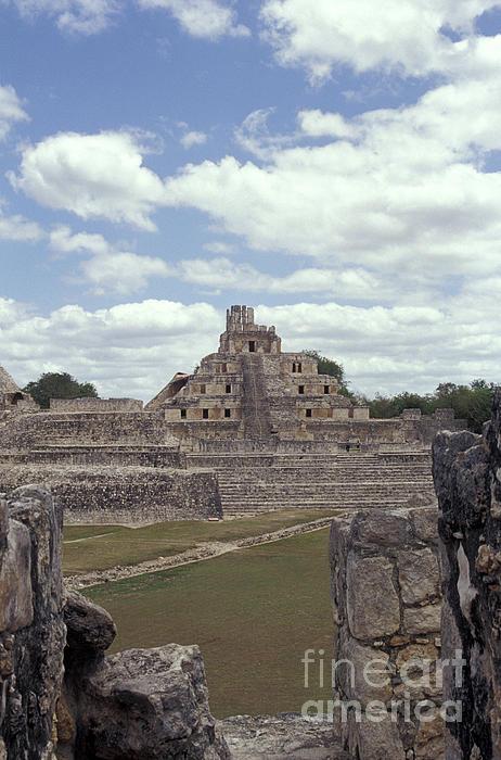 Mexico Photograph - Edzna Mayan Ruins by John  Mitchell