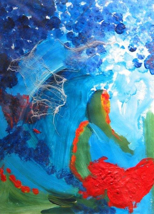 Abstract Painting - Effervescent by Deborah Farley