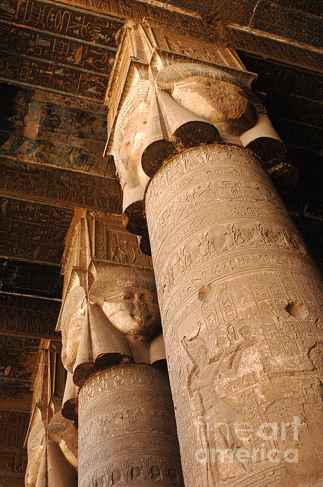Temple Photograph - Egypt Temple Of Dendara by Bob Christopher