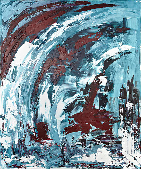 Expressionism Painting - Eiskaltes Rot by Thomas Kleiner