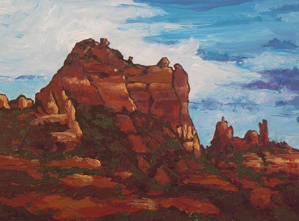 Sedona Painting - Elephant Rock by Sandy Tracey