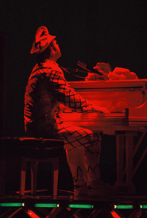 Elton John Photograph - Elton In The Red by Scott Smith
