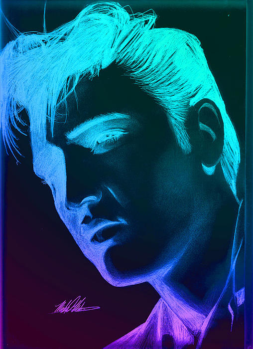 Elvis Digital Art - Elvis Neon by Michael Mestas