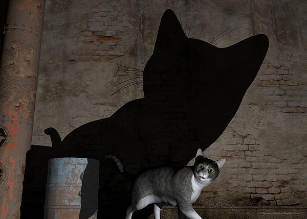 Animals Painting - Emperor Of Midnight by Sipo Liimatainen