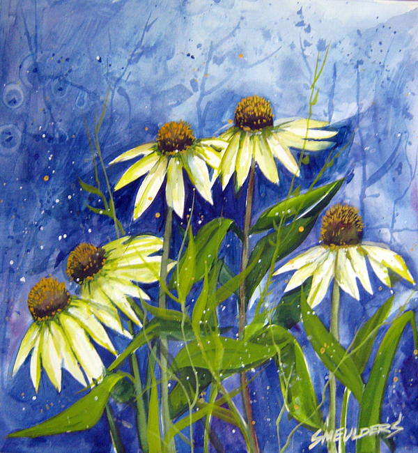 Wild Flowers Painting - End Of Summer by John Smeulders