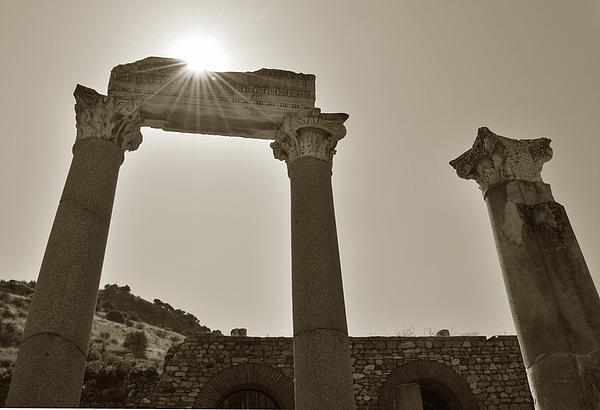 Sepia Photograph - Ephesus 2011 Ad by Terence Davis