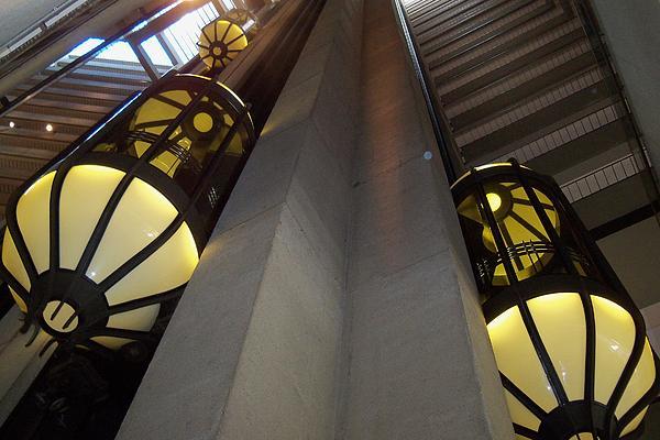 Elevators Photograph - Escape Pods by Laurel Thomson