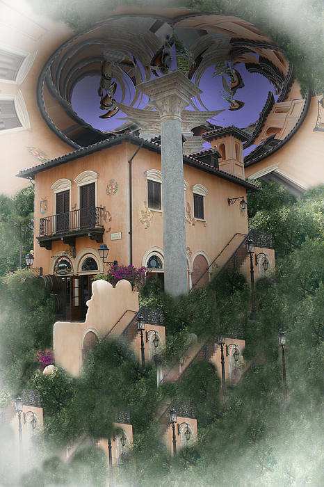 Building Photograph - Eschers Dream by Nina Fosdick