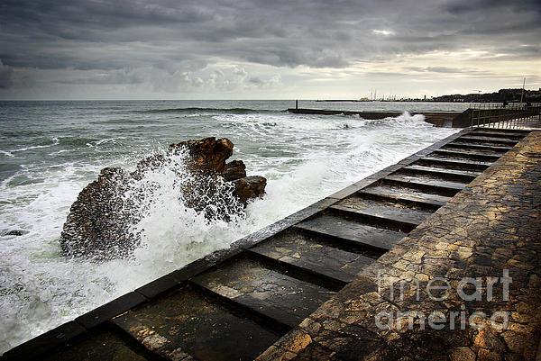 Background Photograph - Estoril Coastline by Carlos Caetano