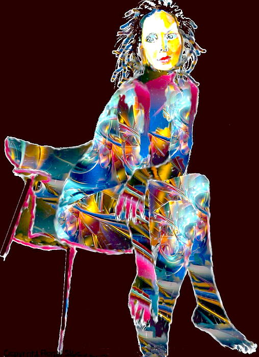 Pen And Ink Digital Art - Ethereal Beauty by Romy Galicia