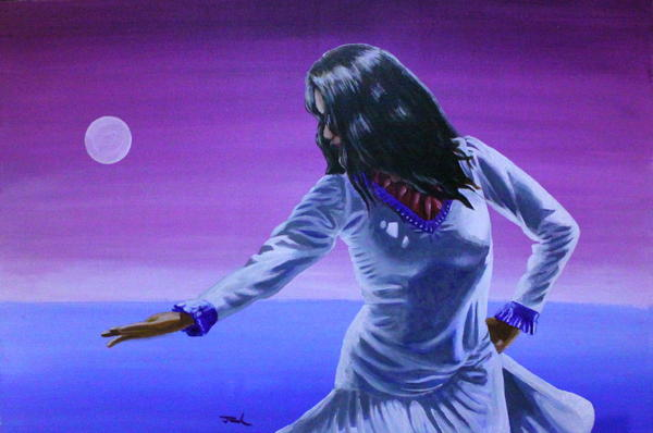 Acrylic Painting - Evening Dance by Jerry Frech