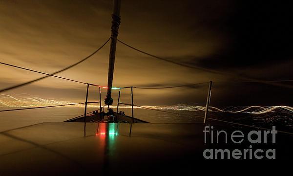 Blur Photograph - Evening Sail by Matt Tilghman