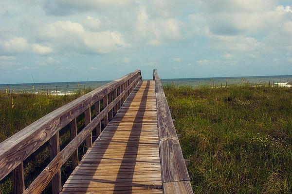 Beach Photograph - Evening Walk To The Beach by Toni Hopper