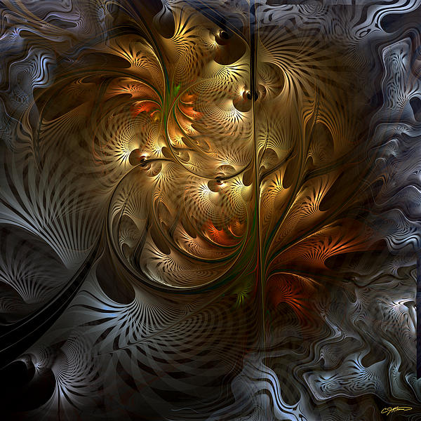 Abstract Digital Art - Evocation by Casey Kotas