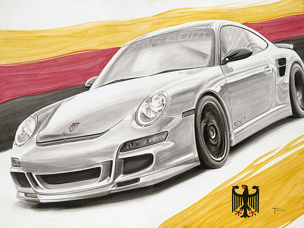Porsche Painting - Evt1200 by Lucretia Torva