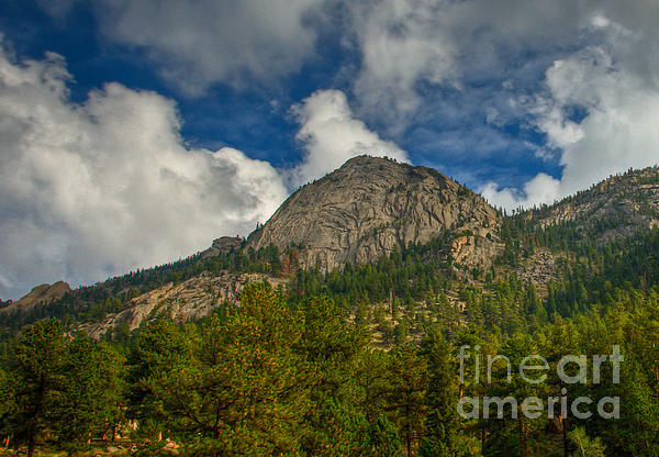 Rocky Mountain National Park Photograph - Exfoliation Dome Of Macgregor Mountain by Harry Strharsky