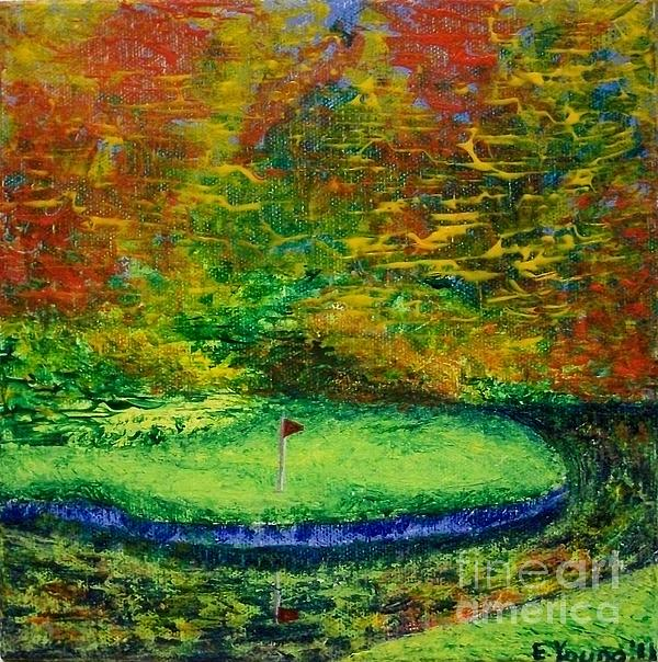 Golf Painting - Fall On The Green by Emily Young