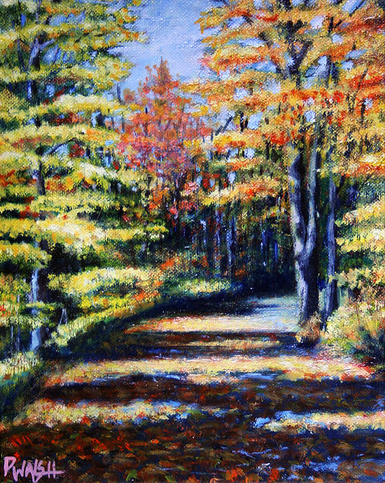 Foliage Painting - Fall Path by Paul Walsh