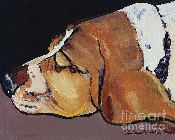 Animal Portrait Painting - Farley by Pat Saunders-White