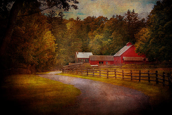 Hdr Photograph - Farm - Barn - Rural Journeys  by Mike Savad