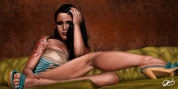 Pete Painting - Fatal Attraction by Pete Tapang