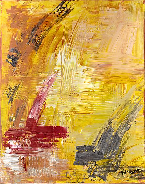Abstract Art Painting - Faust Auf Dem Tisch by Thomas Kleiner