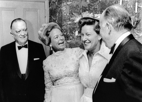 History Photograph - Fbi Director J. Edgar Hoover Attended by Everett