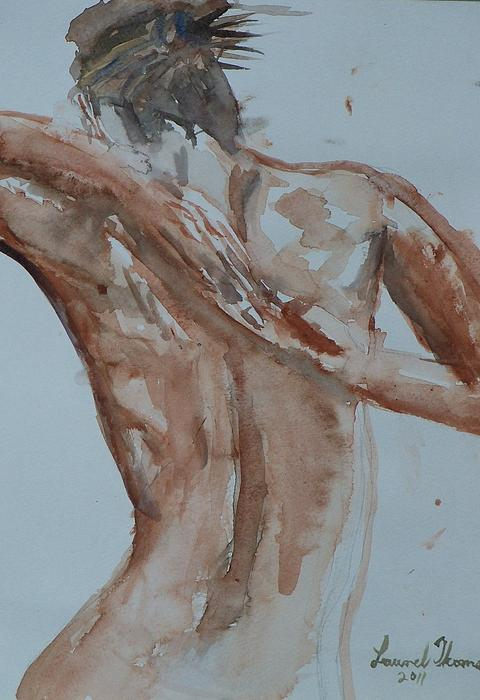 Female Nude Figure Painting - Female Nude Study No 1 by Laurel Thomson