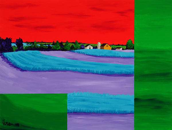 Landscape Painting - Fields Of Green by Randall Weidner