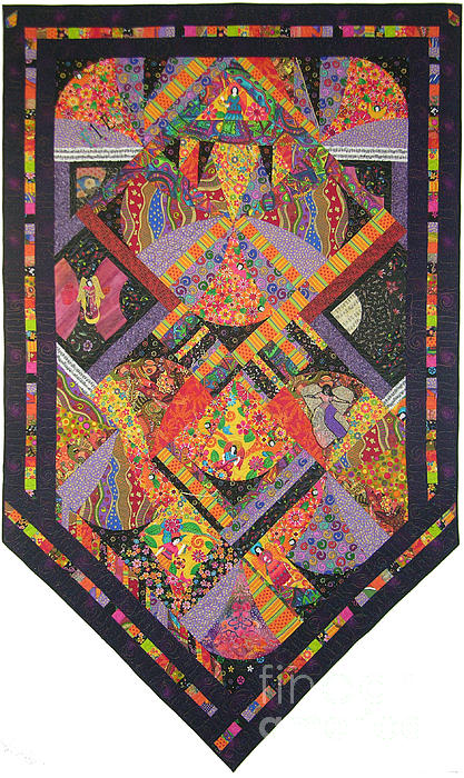 Angels Tapestry - Textile - Fiesta De Los Angeles by Salli McQuaid