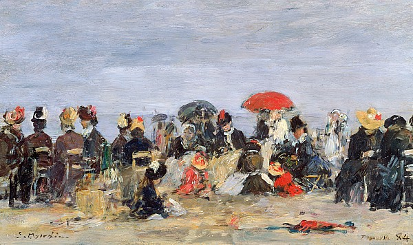 Figures Painting - Figures On A Beach by Eugene Louis Boudin