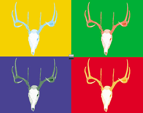 Colors Digital Art - Filtered Deer by John Mathias