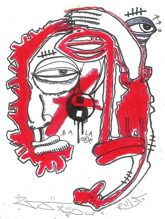 Contemporary Drawing - Finding Balance by Robert Wolverton Jr