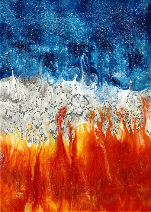 Tokarski Painting - Fire And Ice by Paul Tokarski