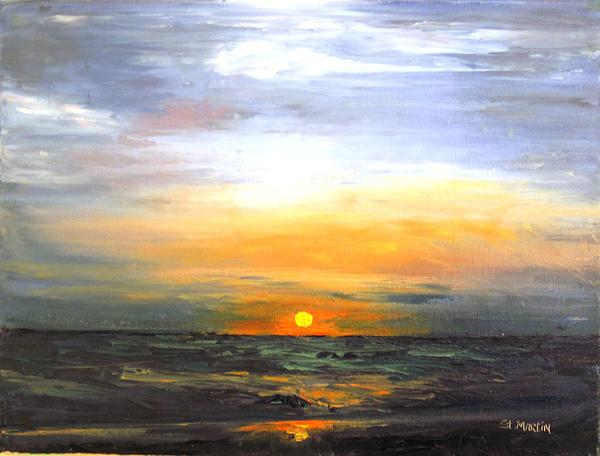 Sky Painting - Fire In The Sky by Annie St Martin