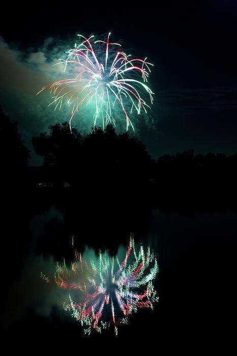 Fireworks Photograph - Fireworks On Golden Ponds. by James BO  Insogna