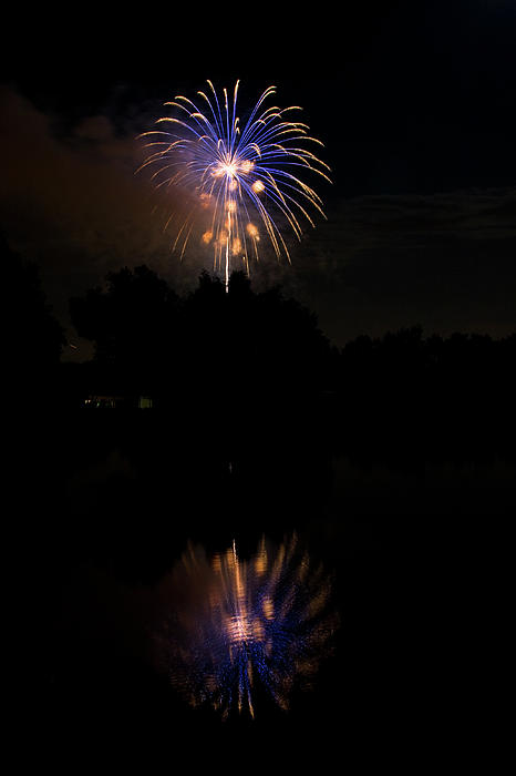 4th Of July Photograph - Fireworks Reflection by James BO  Insogna