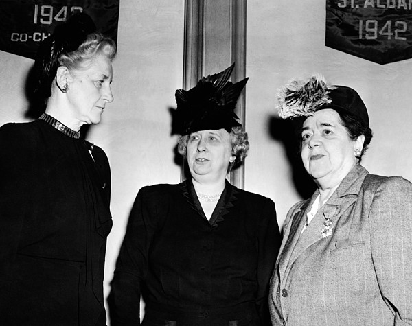 History Photograph - First Lady Bess Truman Attending by Everett